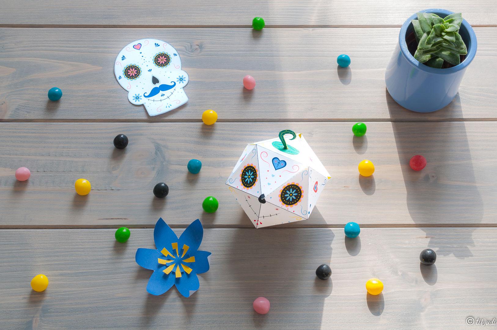 Boîte à bonbons à imprimer Halloween tiDudi