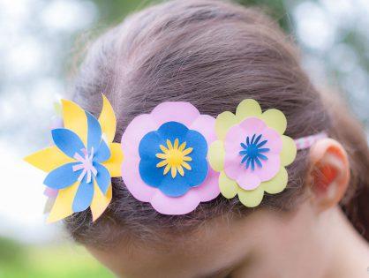 Couronne de fleurs à imprimer