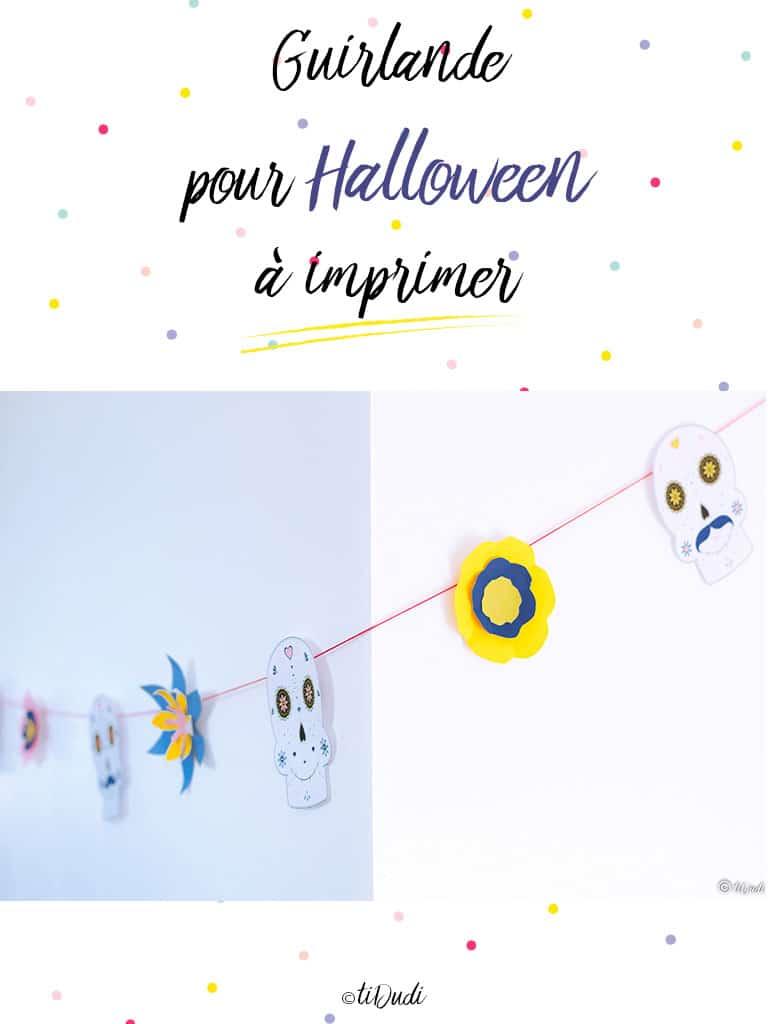 Guirlande Halloween Dia de los muertos - tiDudi