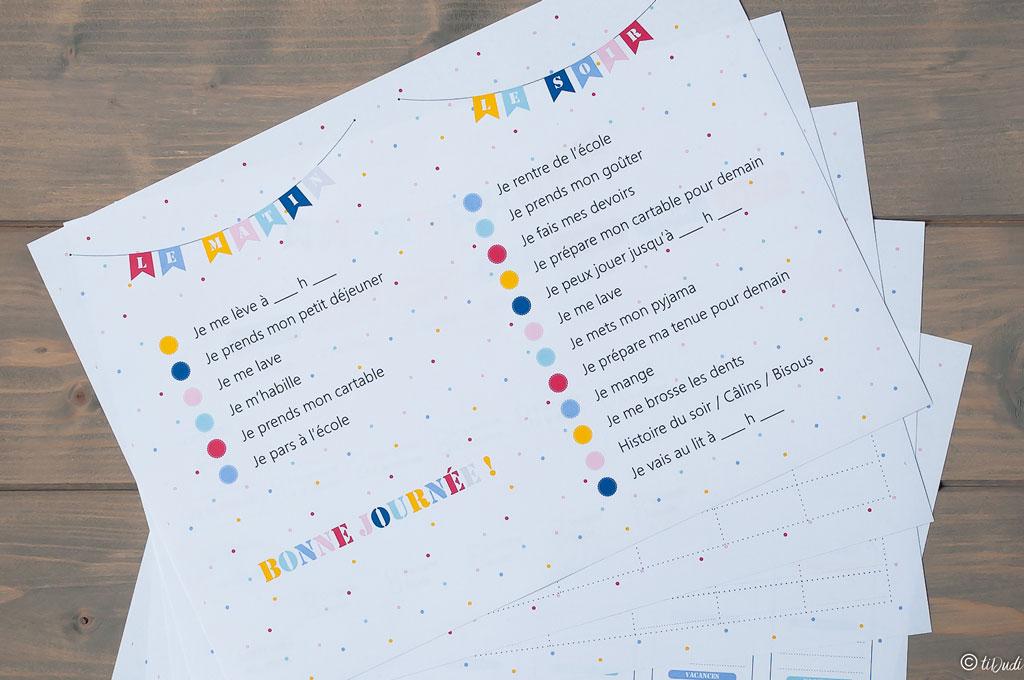 Kit d'organisation pour enfant par tiDudi