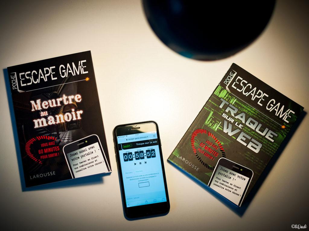 """Escape game de poche """"Meurtre au Manoir"""" et """"Traque sur le Web"""" de Nicolas Trenti chez Larousse"""