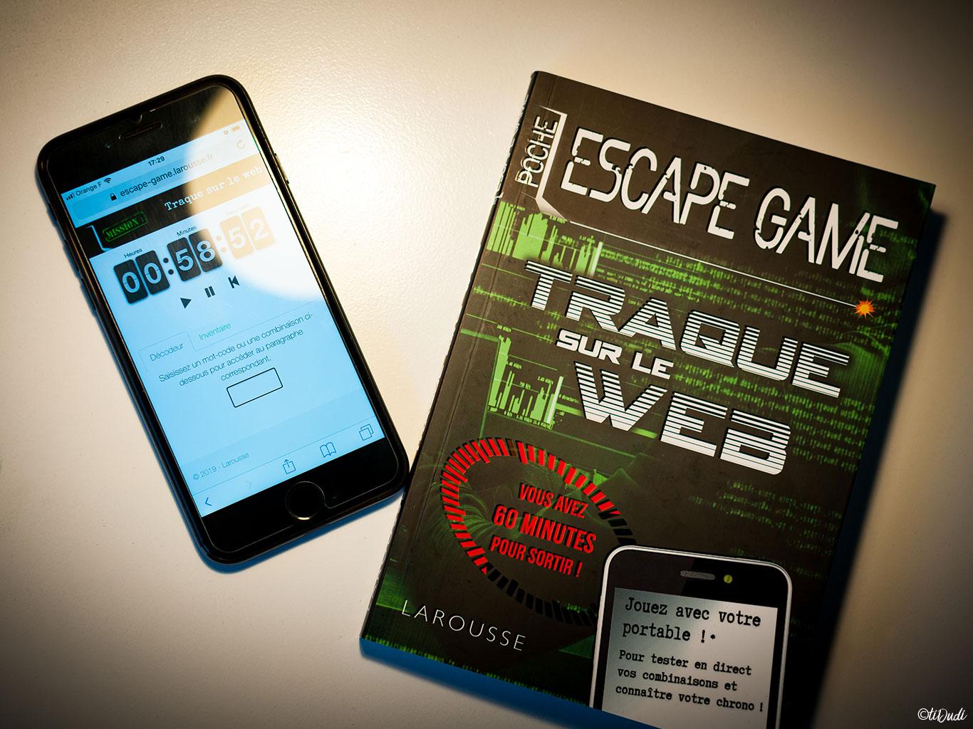 "Escape game de poche ""Traque sur le Web"" de Nicolas Trenti chez Larousse"