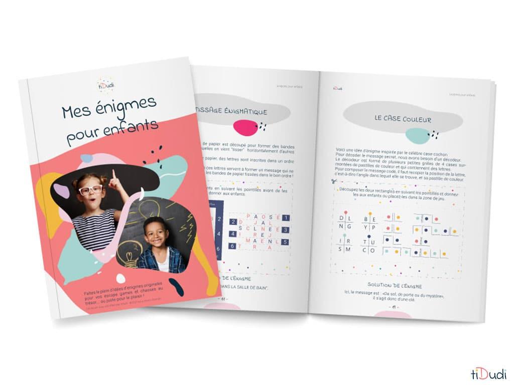 """ebook """"Mes énigmes pour enfants"""" par tiDudi"""