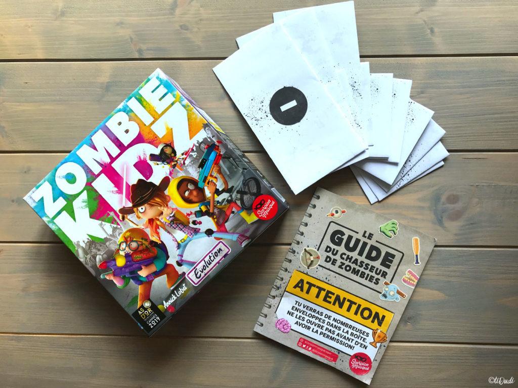 Zombie Kidz Evolution, un jeu de société coopératif et évolutif pour les enfants à partir de 7 ans