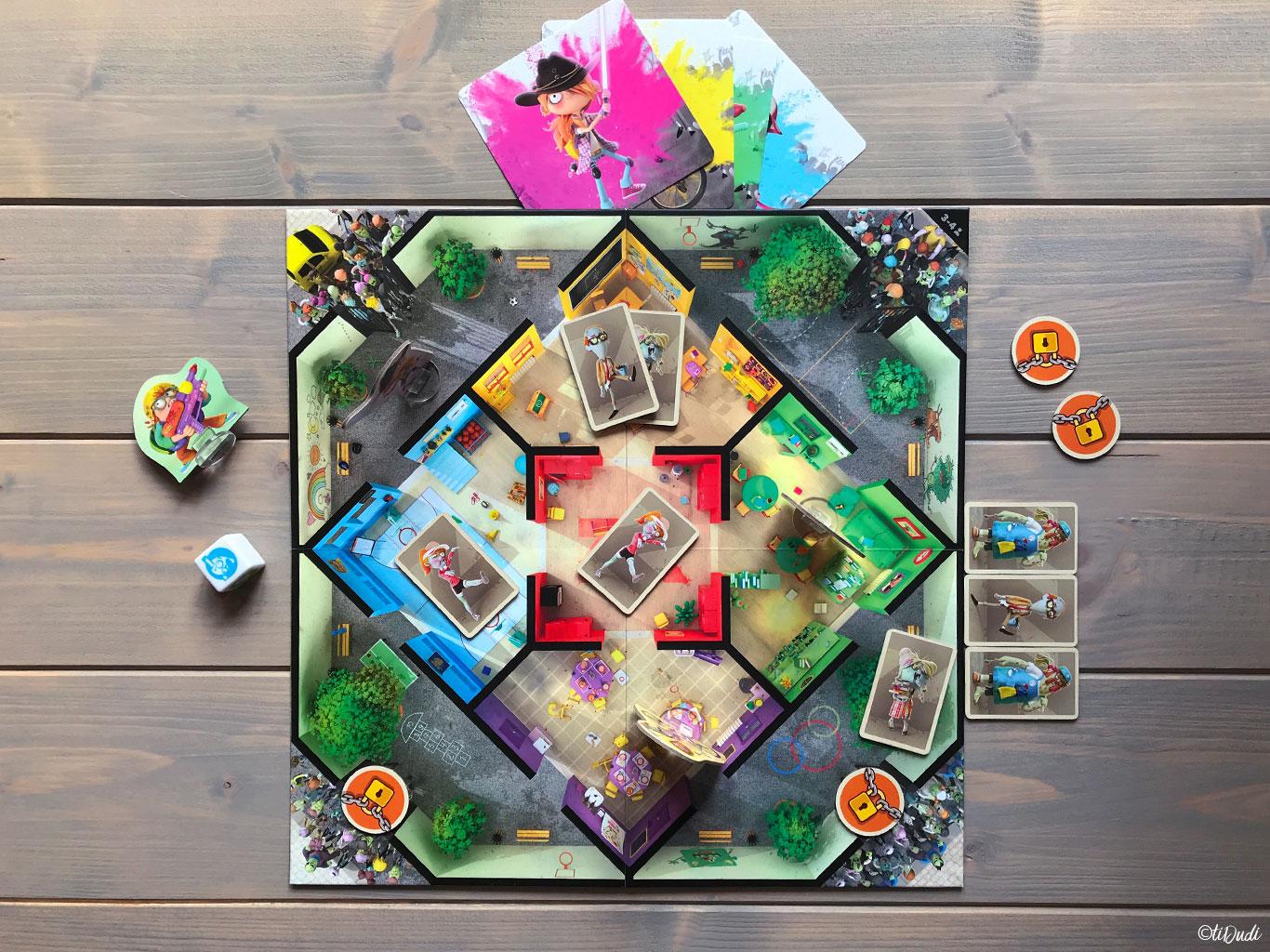 Plateau Zombie Kidz Evolution, jeu de société pour enfants, à partir de 7 ans, jeu coopératif et évolutif