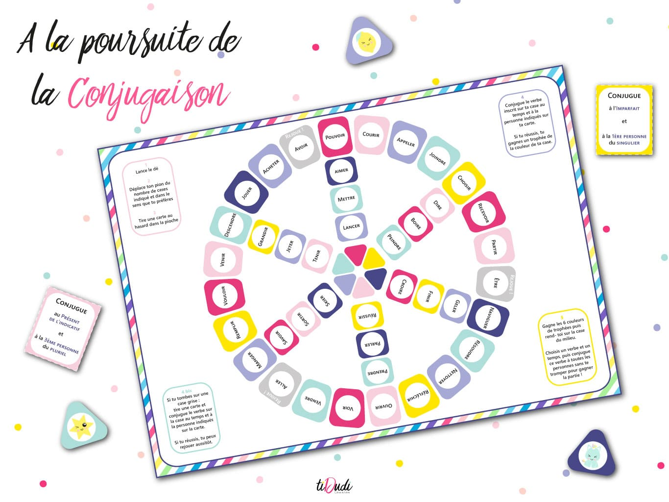 Jeu Pour Apprendre La Conjugaison Kit Pedagogique Tidudi