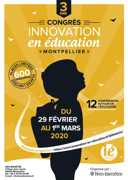 Affiche du Congrès de l'innovation en éducation 2020