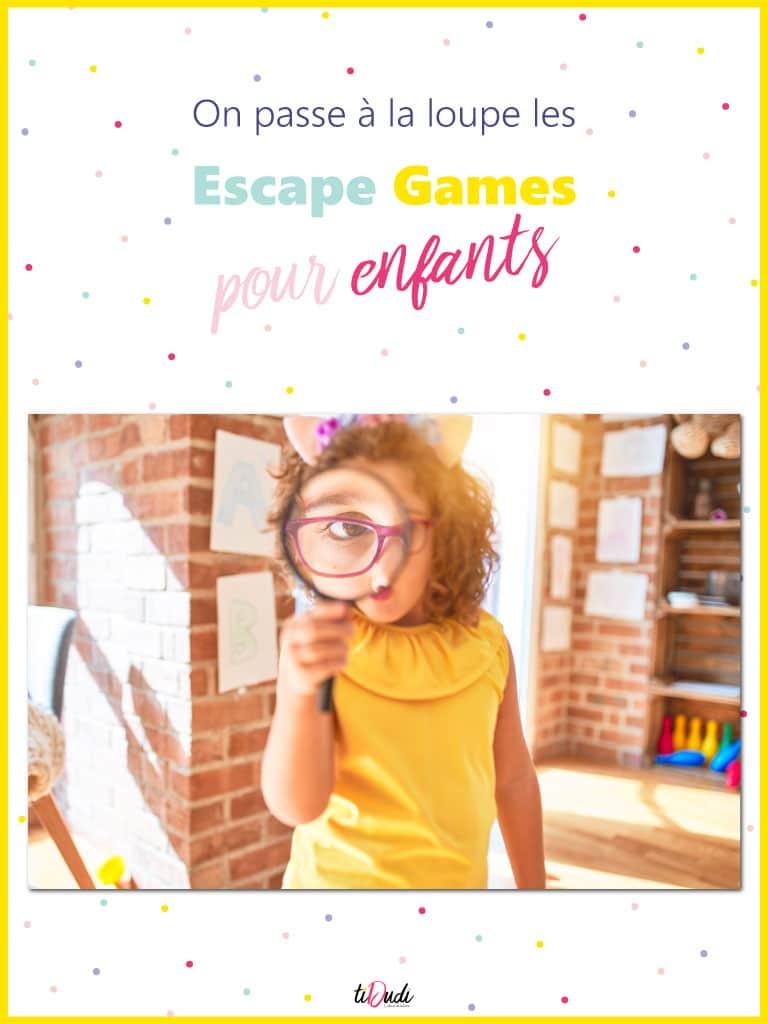 Escape game enfant : tout ce qu'il faut savoir sur les jeux d'évasion pour enfants. tiDudi