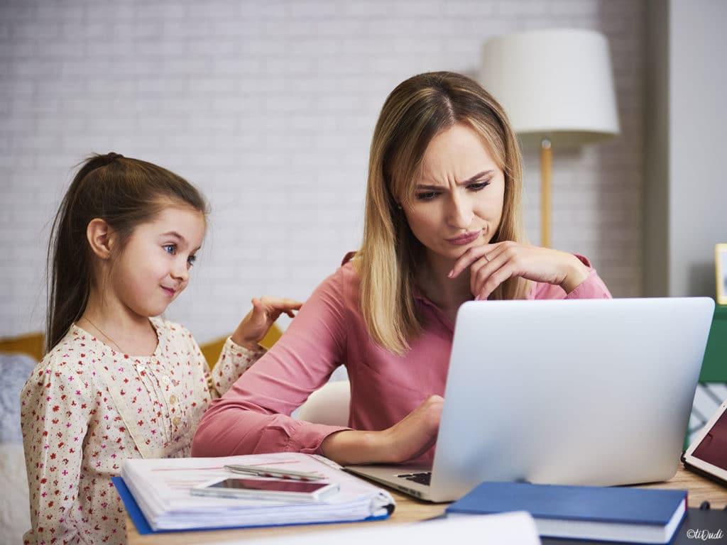 Télétravail et école à la maison