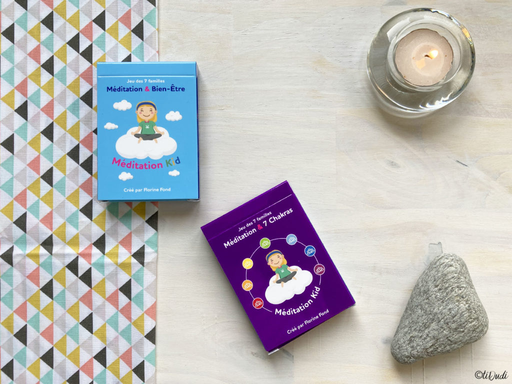 Jeu de 7 familles pour initier les enfants à la méditation : Méditation Kid par Florine Fond