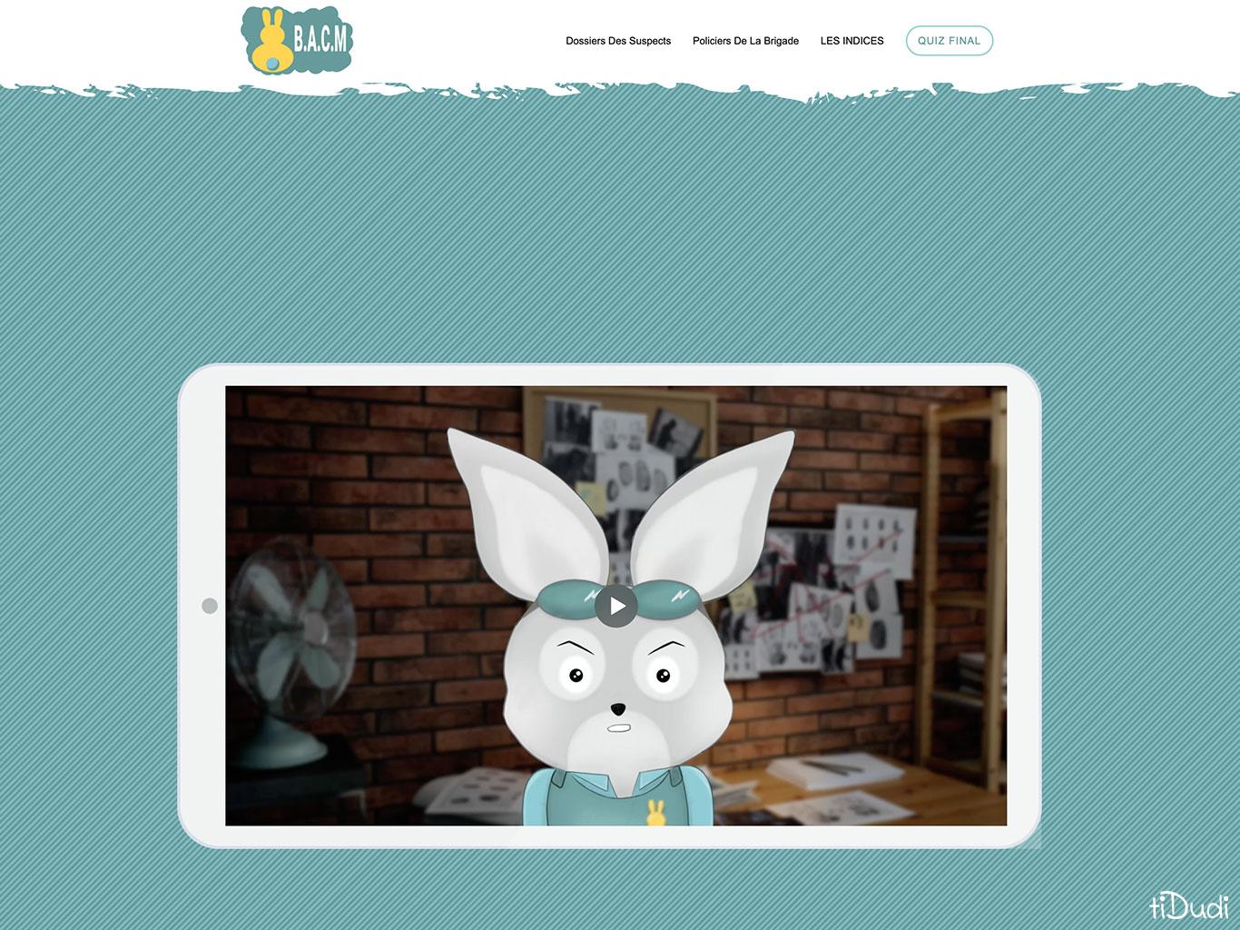 Escape game pour Pâques en famille, à la maison, en ligne. La Carotte Masquée. tiDudi