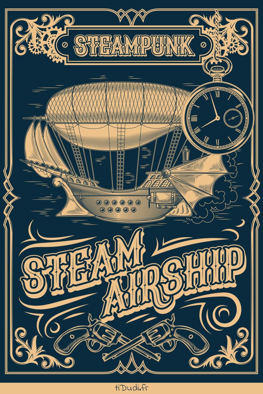 Affiche steampunk tiDudi